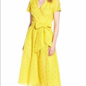 1901 cotton eyelet short sleeves dress